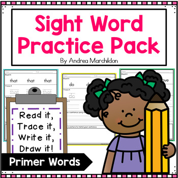Sight Word Practice Pack- Primer