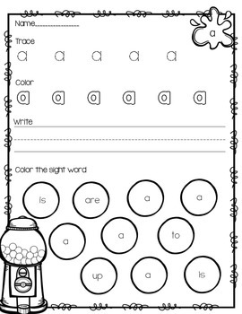 Sight Word Practice Packet