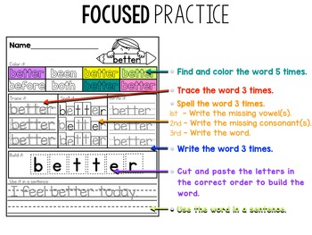 Dolch Sight Word Practice Packet (Third Grade)