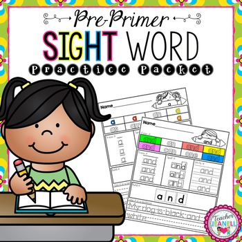 Sight Word Practice Packet (Pre-Primer)