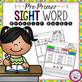 Dolch Sight Word Practice Packet (Pre-Primer)