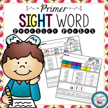 Dolch Sight Word Practice Packet (Primer)