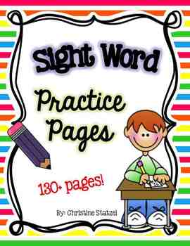 Sight Word Practice Pages (130+ pages)