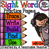 Sight Words Practice Pages {65+ Pages}