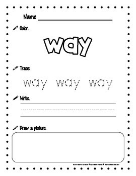 Sight Word Practice Pages (76-100)