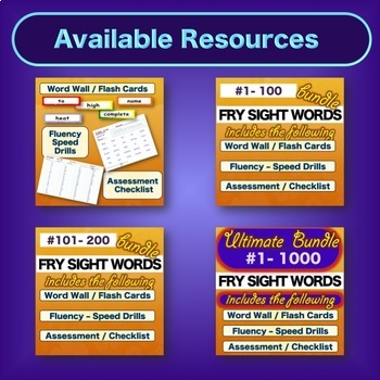 Sight Word Practice - BUNDLE - Fry FIRST 100 - Literacy Center Word Work