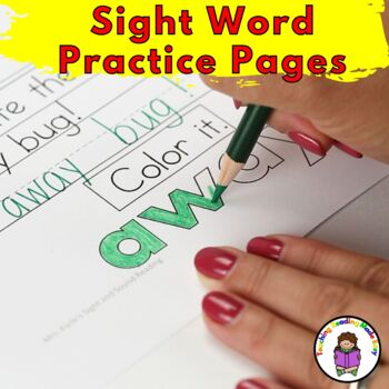 Sight Word Worksheets Dolch Bundle