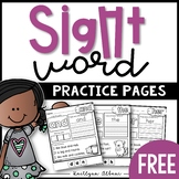 Sight Word Practice Pages - FREEBIE