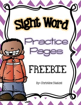 Sight Word Practice Pages Freebie