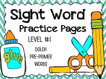 Sight Word Practice Pages - Level #1