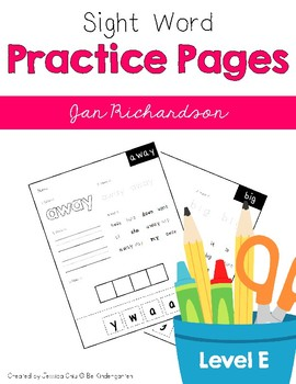 Sight Word Practice Pages Level E