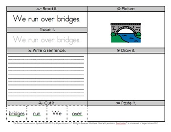 Sight Word Practice Pages - Morning Work / Reading Center (Set 3)
