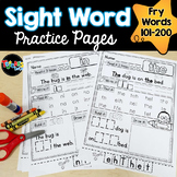 Sight Word Practice Pages: Picture-Supported, Fry Words 101-200