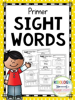 Sight Word Printables and Activities