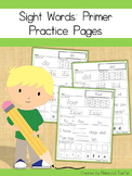 Sight Word Practice Pages: Primer