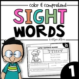 Sight Word Practice Pages (Read - Color - Comprehend)