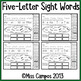 Sight Word Practice Pages : (Set Four)
