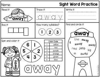 Sight Word Practice Pages (The Bundle)