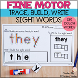 Sight Word Practice - Trace Build Write Sight Word Activities
