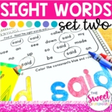 Sight Word Practice Part 2