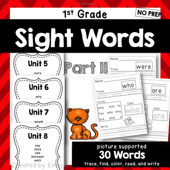 1st Grade Sight Word Practice Part II