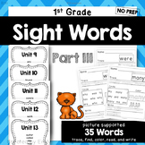 1st Grade Sight Word Practice Part III