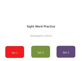 Sight Word Practice Powerpoint