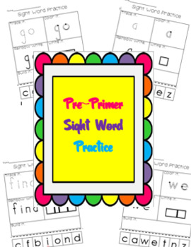 Sight Word Practice {Pre-Primer List}