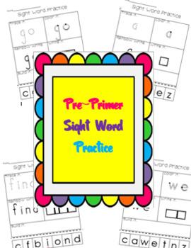 Sight Word Practice {Pre-Primer List}