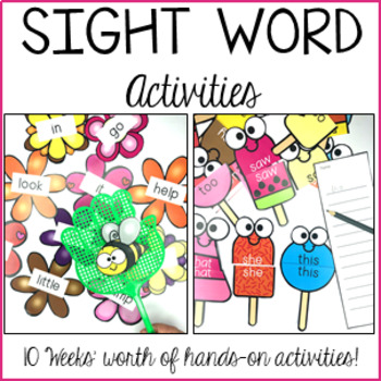 Sight Word Practice - Pre-Primer and Primer Activities for Centers