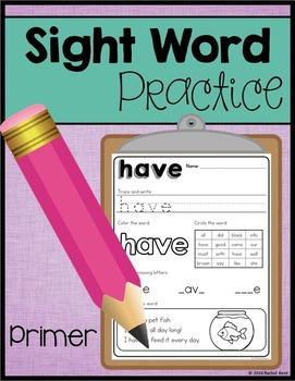Sight Word Practice - Primer