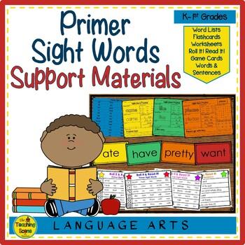 Sight Word Practice:  Primer
