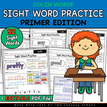 Sight Word Practice - Primer Edition (Dolch)
