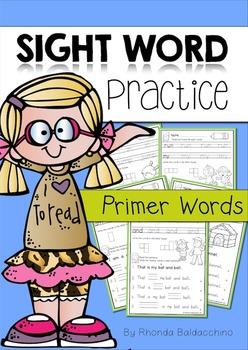 Sight Word Practice ~ Primer Words#ausbts18