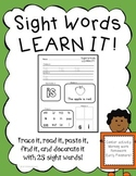 Sight Word Practice Printables- First 25 sight words Fountas and Pinnell