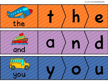 Sight Word Practice Puzzles (ALL  Pre-primer Dolch Sight Words included)