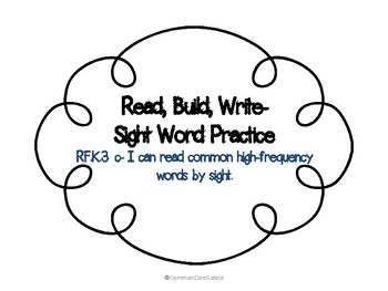 Sight Word Practice RF.K.3c