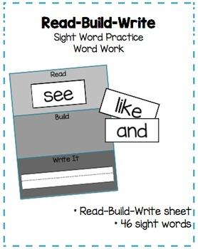 "Sight Word Practice: ""Read-Build-Write"""