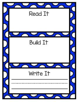 Sight Word Practice: Read It, Build It, Write It
