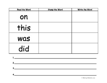 Sight Word Practice: Read, Write, & Stamp (Write Sentences) 76 sight words