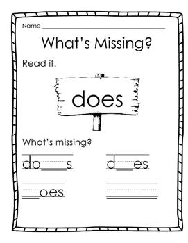 Sight Word Practice Reading Street Unit 3 Week 6