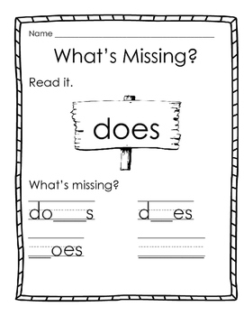 Sight Word Practice Reading Street Unit 3 Week 6
