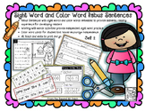 Rebus Sentences- Sight Word and Comprehension Practice for Beginning Readers
