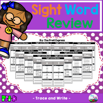 Sight Word Practice Review