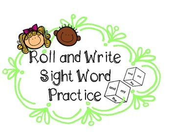Sight Word Practice Roll-&-Write Graph FREEBIE | Dolch Pre-Primer Words