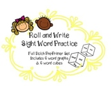 Sight Word Practice Roll & Write Graph | Set of 6 for Dolch Pre-Primer List