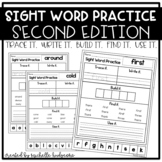 Sight Word Practice SECOND (Trace it. Write it. Build it. Find it. Use it.)
