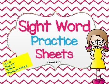 Sight Word Practice {Say It, Trace It, Write It, Rainbow Write It}