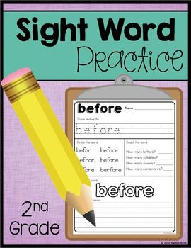 Sight Word Practice - Second Grade