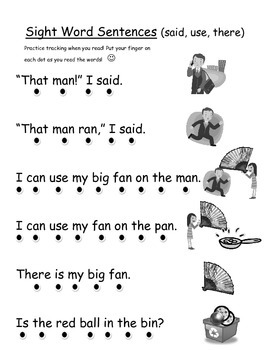 Sight Word Practice Sentences